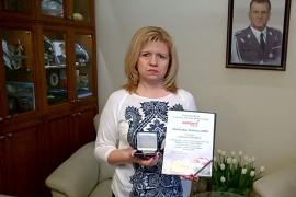 Ewa Błasik - medal Orła Białego Solidarnych2010